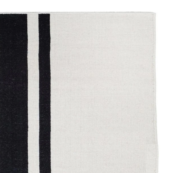Tucker Stripe Rug, Black
