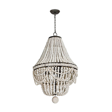Biarritz Beaded Chandelier, White