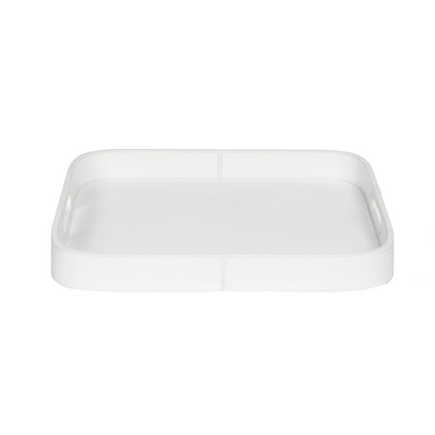 Brisbane Tray, Bright White Leather