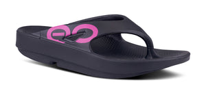 Men's OOriginal Sport Project Pink Sandal - Black - OOFOS
