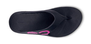 Women's OOriginal Sport Project Pink Sandal - Black - OOFOS