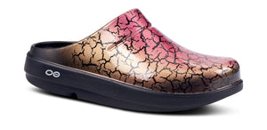 Women's OOcloog Crackle Clog - Rose Gold