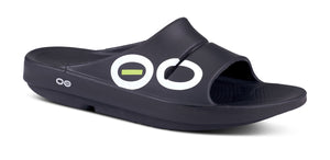 Men's OOahh Sport Slide Sandal - Black - OOFOS