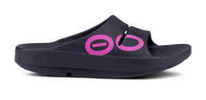 Men's OOahh Sport Project Pink Sandal - Black - OOFOS