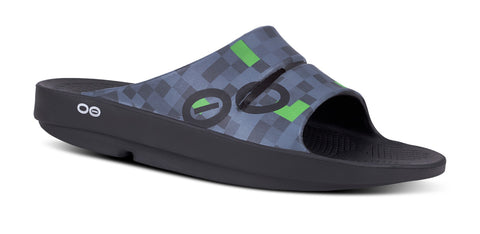 Men's OOahh Sport Slide Sandal - Geo Green