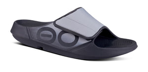 Men's OOahh Sport Flex Sandal- Black & Grey