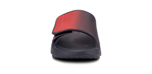 Men's OOahh Sport Flex Sandal- Black & Red