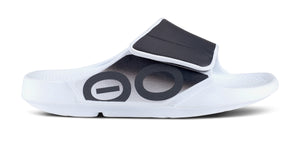 Women's OOahh Sport Flex Sandal- White & Black