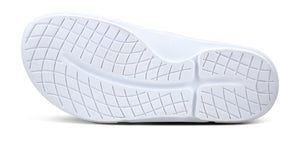Men's OOahh Sport Flex Sandal- White & Black