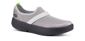 Women's OOmg Low Shoe - Black & Gray - OOFOS