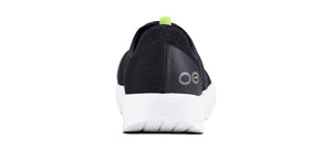 Women's OOmg Low Shoe - White & Black - OOFOS