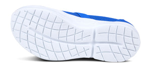 Women's OOmg Low Shoe - White & Blue - OOFOS