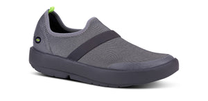 Women's OOmg Fibre Low Shoe - Black & Gray - OOFOS
