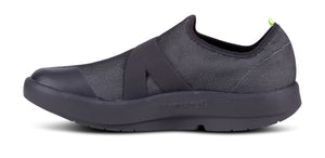 Men's OOmg Fibre Low Shoe - Black & Gray - OOFOS