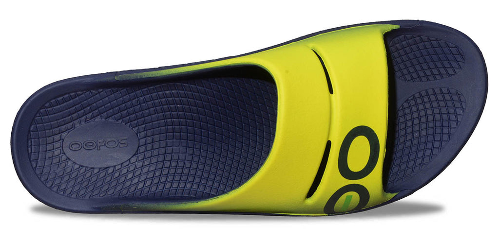 Women's OOahh Sport Slide Sandal - Electric Yellow & Navy