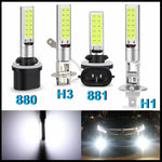 1Pc H1 H3 H27 880 881 COB LED Bulb 10W Car Fog Light Super Bright 6000K White