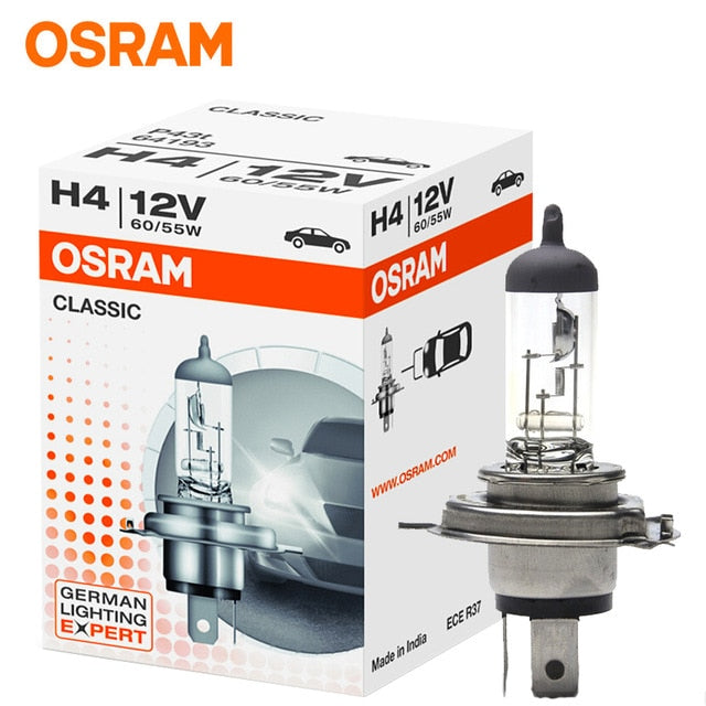 OSRAM H1 H3 H4 H7 Car light bulb Headlight High beam Low beam lights Halogen lamp long life 12V (single pack)