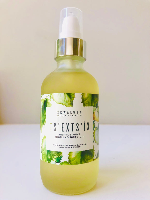 Ceremony Series ~ TS'EXTS'IX NETTLE MINT COOLING BODY OIL