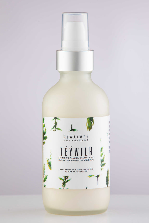 Téýwilh Sweetgrass, Sage and Rose Geranium Cream Coming 2021
