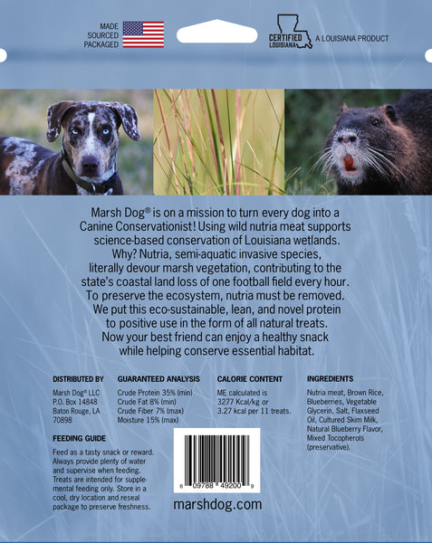 Wild Nutria Blueberry Recipe | Crunchy Dog Treats
