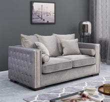 Load image into Gallery viewer, Mayfair Velvet Tufted 3+2+1 Silver