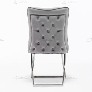 Tufted Dark Grey Dining Chairs