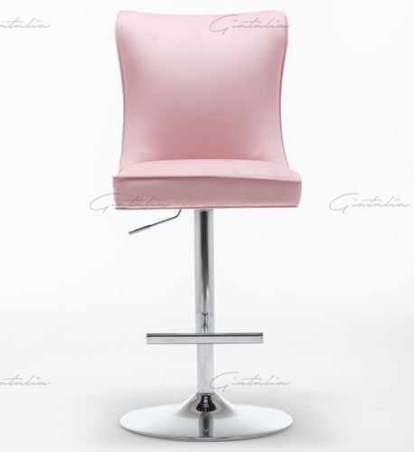 Pink Tufted Bar Stools