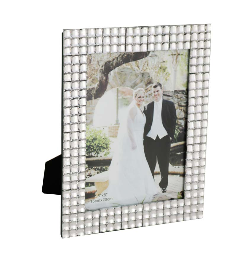 Desktop Silver Photo Frame 6x8cm