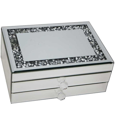 Mirrored Jewellery Box Two Drawer