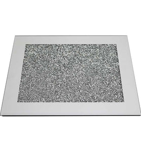 Silver Crystal Rectangular Placemat