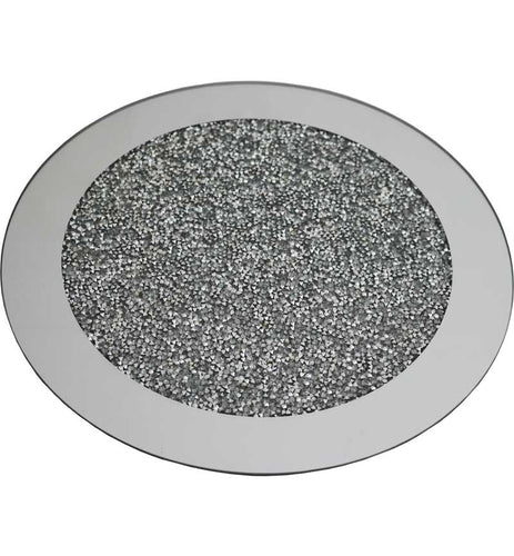 Silver Crystal Round Placemat