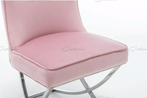Tufted Pink Dining Chairs
