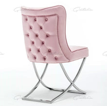Load image into Gallery viewer, Tufted Pink Dining Chairs