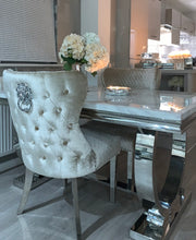 Load image into Gallery viewer, 1.5m Arianna White  Marble & Stainless Steel Circular Base  Dining Table