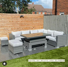 Load image into Gallery viewer, Monte Carlo Rattan Wide Corner Sofa Dining Set In Grey