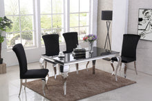 Load image into Gallery viewer, Louis BLACK Glass Dining Table 160cm by 90cm