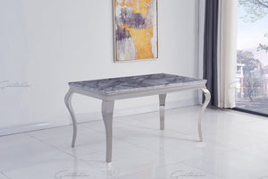 Louis GREY Marble Dining Table 140cm x 80cm