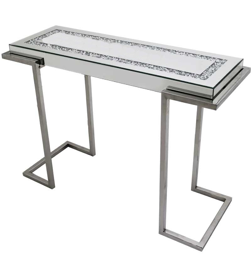 Console Table with Crushed Diamond Top