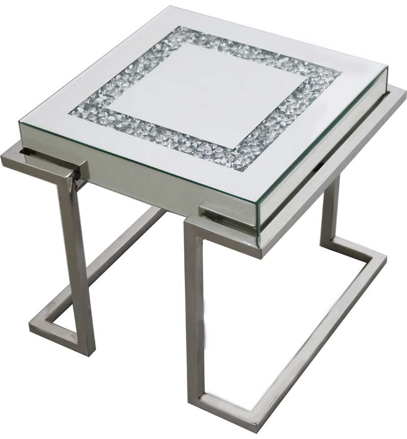 End Table with Crushed Diamond Top