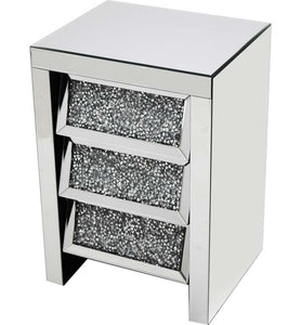 Angled 3 Drawer Bedside