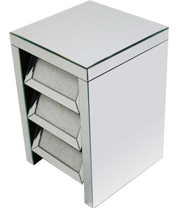 3 Drawer Chest Silver