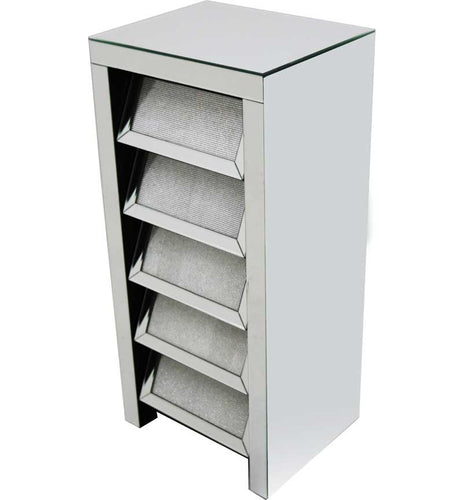 5 Drawer Chest Silver