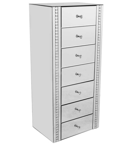 Silver 7 Drawer Chest