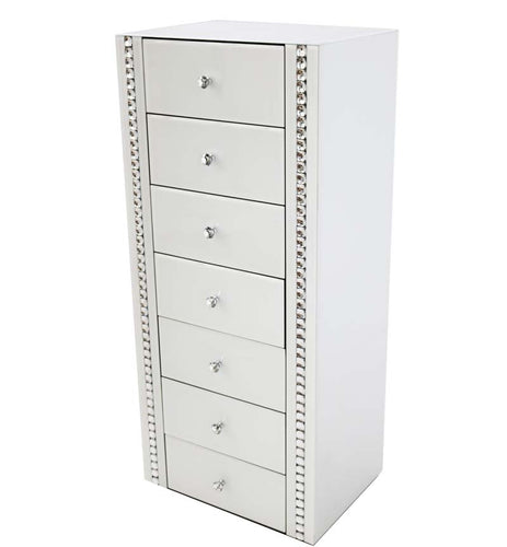 White 7 Drawer Chest