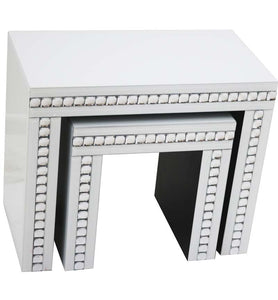 Nest of Tables set of 2 White