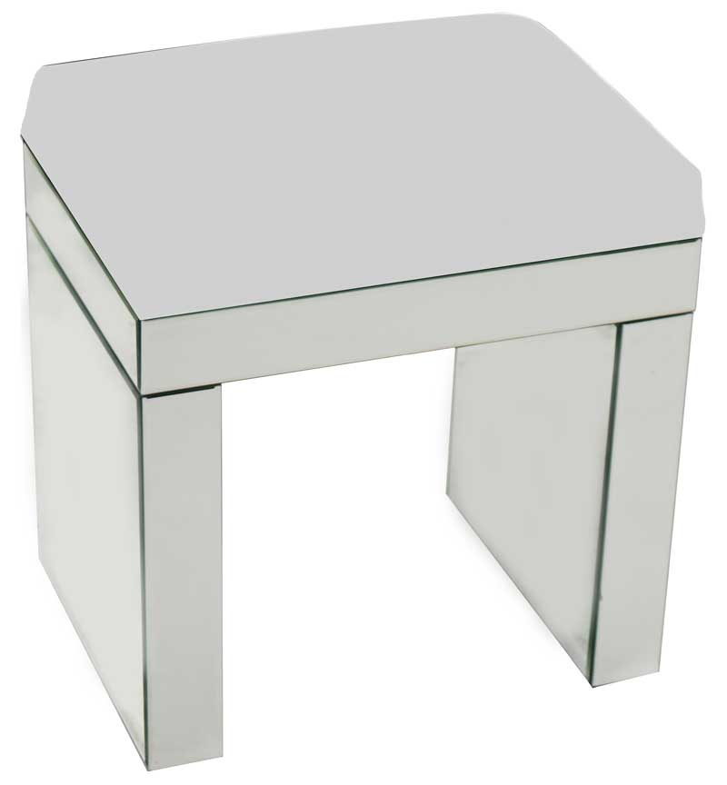 Silver Stool with Cushion Seat