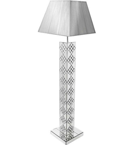 Silver Square Floor Lamp