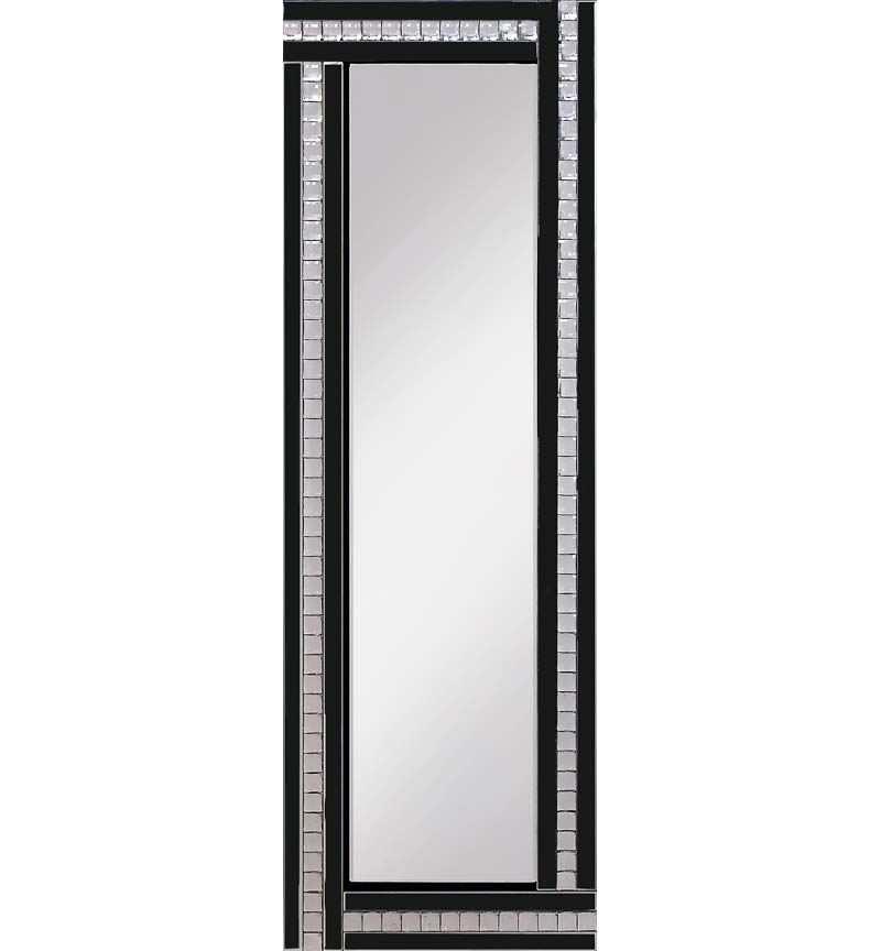 Classic Triple Bar Mirror Black 120x40