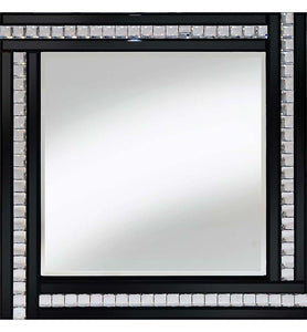 Classic Triple Bar Mirror Black 60x60