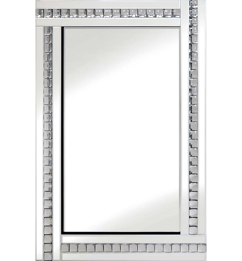 Classic Triple Bar Mirror White 60x80